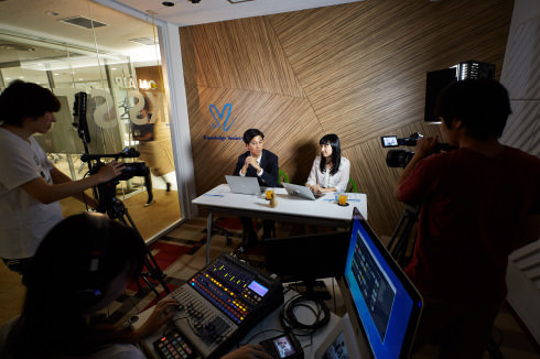 ウェビナーやYou Tube配信に適した動画スタジオ