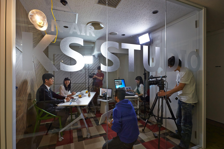 シェアオフィスの動画配信スタジオ3