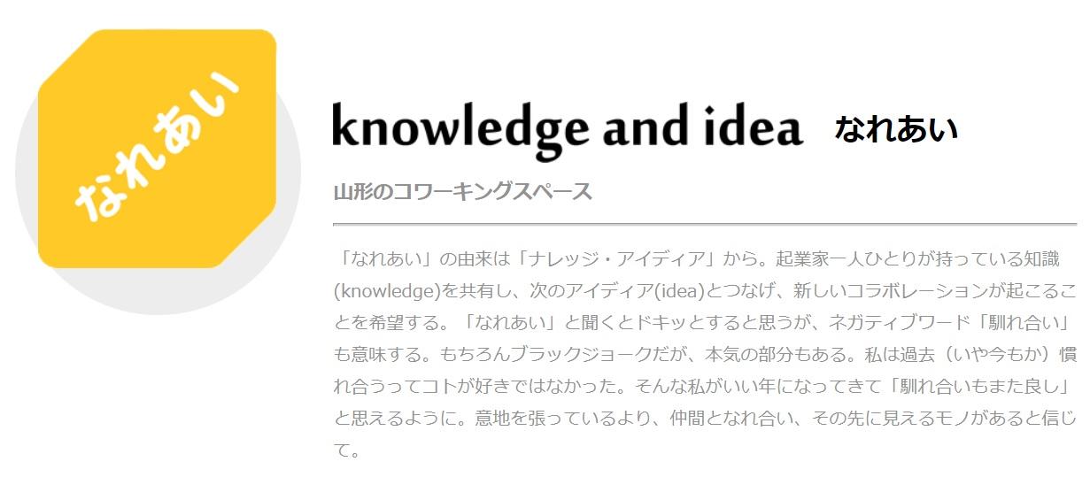 コワーキングスペース knowledgeandidea