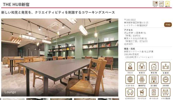 コワーキングスペース THEHUB新宿